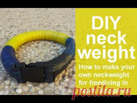 How to make your own neckweight for freediving in depth disciplines