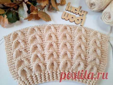 Узор «Колокола». Классный узор для вязания пуловера, джемпера, свитера Всем, здравствуйте. В копилку рукодельницам замечательный узор спицами для вязания кофты, пуловера, кардигана, джемпера. Т.е. отлично подойдет для любых плечевых изделий. Но и не только! Можно еще связать, например, плед или снуд. Образец узора связала в сочетании с французской резинкой и связан из пряжи Alize superlana tig цвет 310, в 3 нити, спицами 4 мм. Раппортузора 9 петель + 1 + кромочные. 1 ряд(...