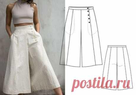 Как из одной выкройки юбки сделать три выкройки брюк | Готовые выкройки и уроки по построению на Выкройки-Легко.рф