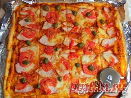 Домашняя пицца (на тонком тесте) - Кулинарные пошаговые рецепты с фото.