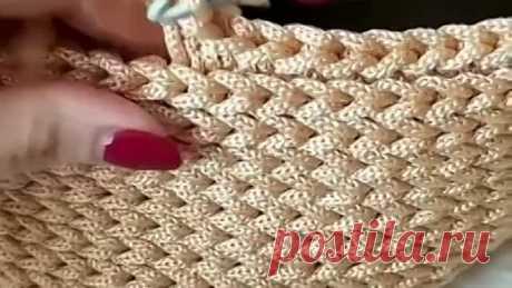 Простой и красивый узор из шнура