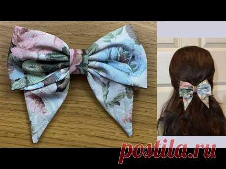 Sailor Hair Bow Tutorial - DIY How to Make a Fabric Bow, Hair Accessories, Hair Clip, Lazos de tela