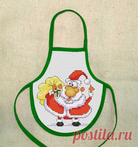Gallery.ru / Фартук. Дед Мороз - Новогоднее - Norsvet