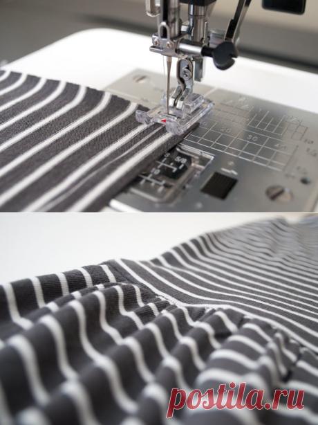 Делаем идеальные сборки на ткани с помощью зубной нити / Мастер-классы / Burdastyle