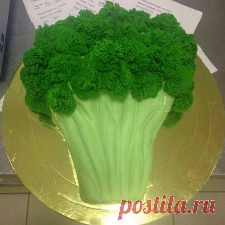 Ваша подруга следит за фигурой? Так подарите ей торт в виде брокколи, моркови или огурчика. При этом предпочтение отдайте легкому суфле и ягодным начинкам. Торт на выбор, а также по вашему эскизу по телефону 8(495)213-80-24  #тортназаказ #тортназаказмосква #ирисделиция