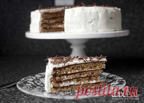 Шоколадно-ореховый торт -