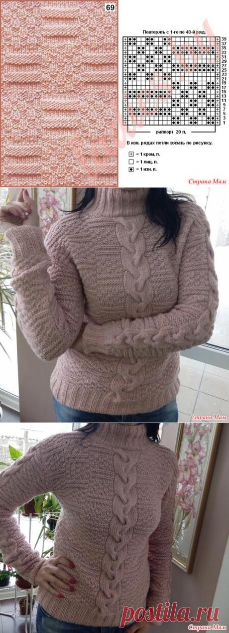 Теплый свитер - Вязание - Страна Мам