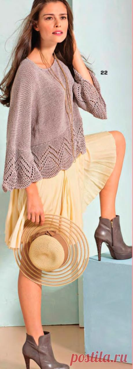 Интересные женские модели спицами, которые хочется связать + схемы вязания и описание | Вязать легко/knitting | Яндекс Дзен