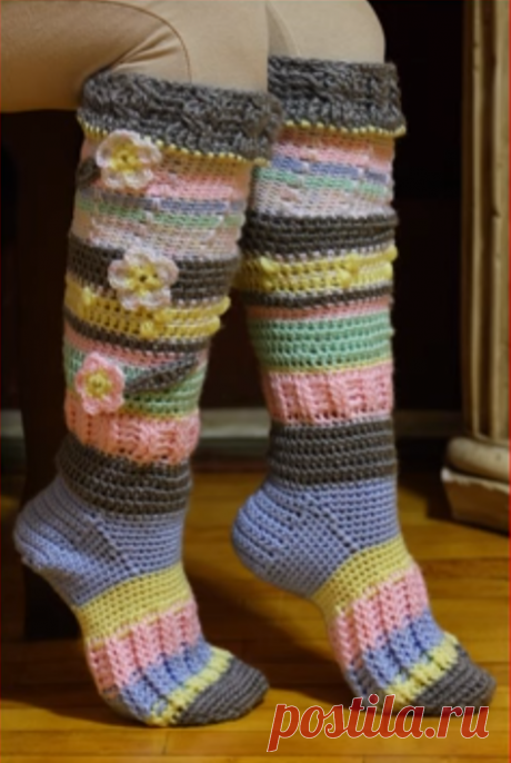 Lovely Knee High Socks - Page 2 of 2 - Crochet Ideas Related PostsHow To Crochet Socks EasilyHow To Crochet Fast And Comfortable SocksHow To Crochet Colorful Socks (From 32 To 40 Sizes)Crochet Comfortable SocksCrochet Socks Video TutorialCrochet Comfy Socks Step By Step Video Tutorial