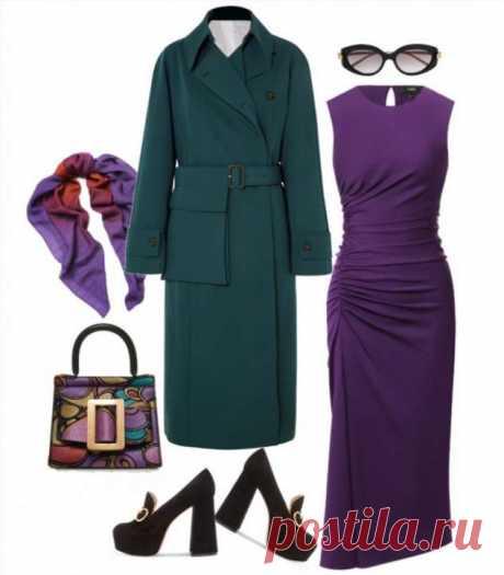 5 образов с фиолетовым платьем Theory в модных сетах | Офигенная