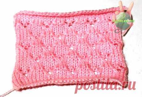 Мелкий ажур спицами со схемой и описанием вязания
