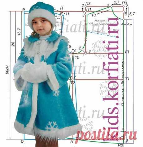 Выкройка новогоднего костюма для девочки (Шитье и крой)   Журнал Вдохновение Рукодельницы