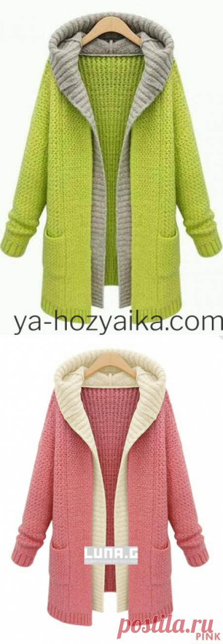 Make look slender with a hood the scheme. The description of knitting make look slender spokes