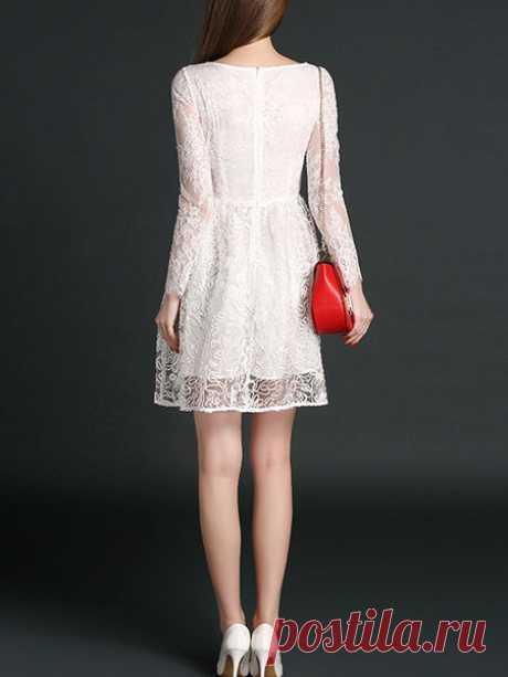 Jacquard Silk Mini Dress