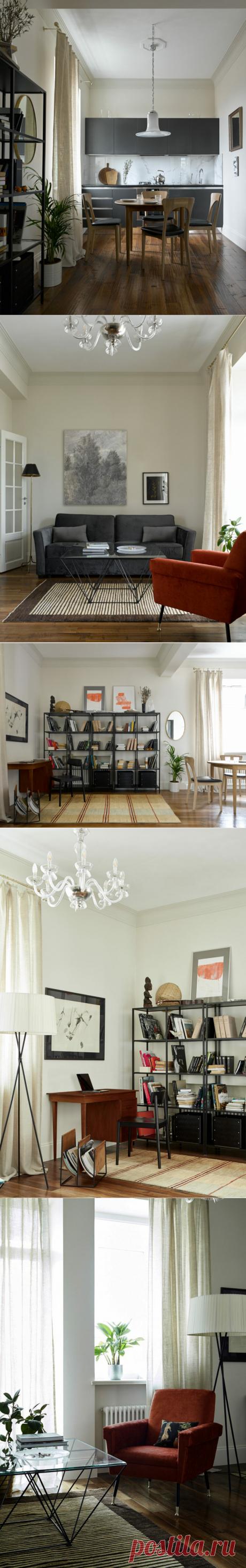 Уютная квартира с духом старины, 68 м² | AD Magazine Russia | Яндекс Дзен