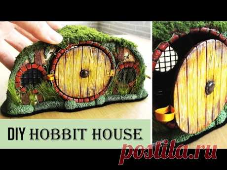 DIY Polymer Clay Hobbit House Jar/Lantern || Maive Ferrando