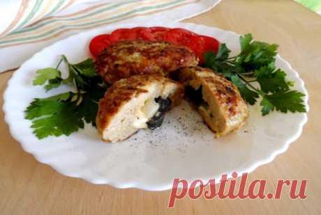 Мини-котлетки с сыром и маринованными грибами — Sloosh – кулинарные рецепты