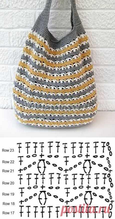 Вязаные сумки крючком: схемы и описания. 100 идей для вязание сумок с описанием и схемами