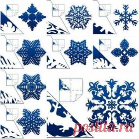 Бумажные снежинки - несколько схем   HANDMADE-МУЗЕЙ • Ручная работа, мастер-классы, идеи