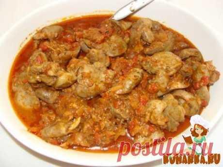 Рецепт: Куриная печень по-грузински и мчады