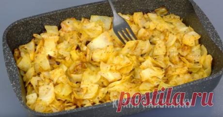 Простой гарнир из капусты. Как приготовить капусту в духовке   Кухня наизнанку   Яндекс Дзен