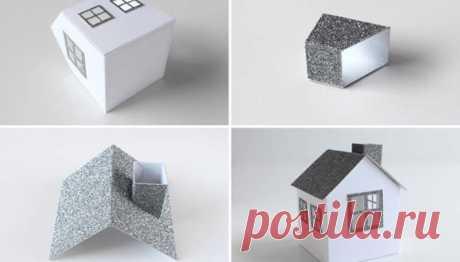 Шаблоны домиков из бумаги для вырезания, которые можно распечатать