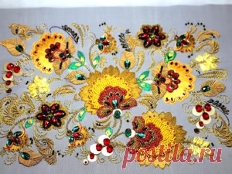 Вышиваем «Хохлому» в разных техниках - Ярмарка Мастеров - ручная работа, handmade
