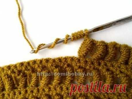 Вязание: узоры крючком с витыми столбиками