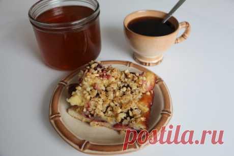 Немецкий сливовый пирог со штрейзелем (Pflaumenkuchen) рецепт с фото - Приглашаем к столу