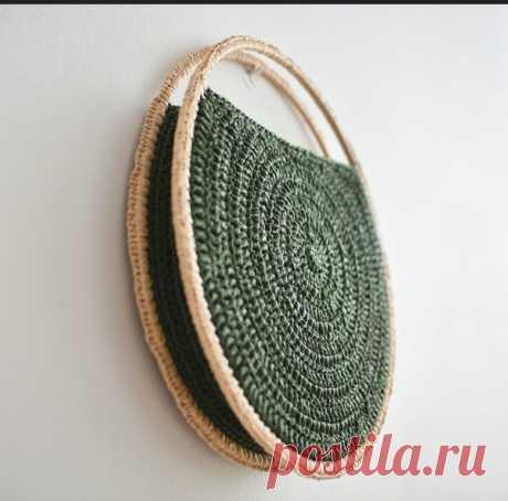 Круглая сумочка крючком  Идея для вдохновения