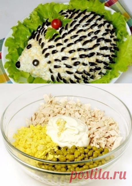 Как приготовить салат ежик - рецепт, ингридиенты и фотографии