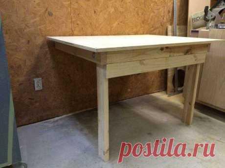 Самодельный откидной стол-верстак на дачу или в гараж