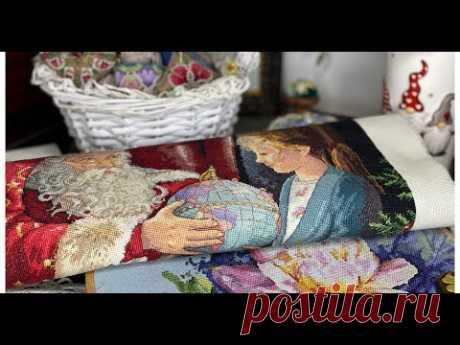 370. Вся моя Прикладная вышивка, Готовая работа Дименшенс, процесс Розы 🌹 Даны Буцилла и Новый