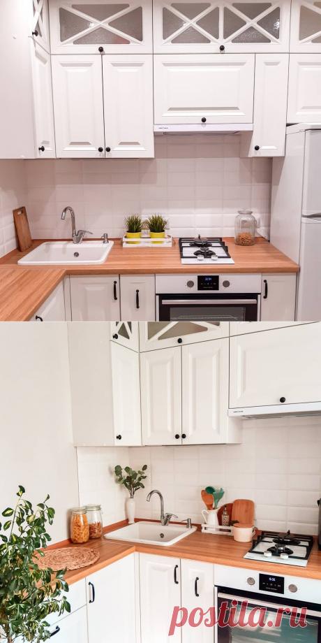 Изумительно уютная кухня 6.2 кв.м. в хрущевке, с холодильником. Одна из лучших, что я видела. | Ремонт на любой вкус | Яндекс Дзен