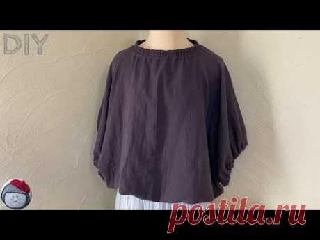 Блузка-халат без выкройки из бумаги