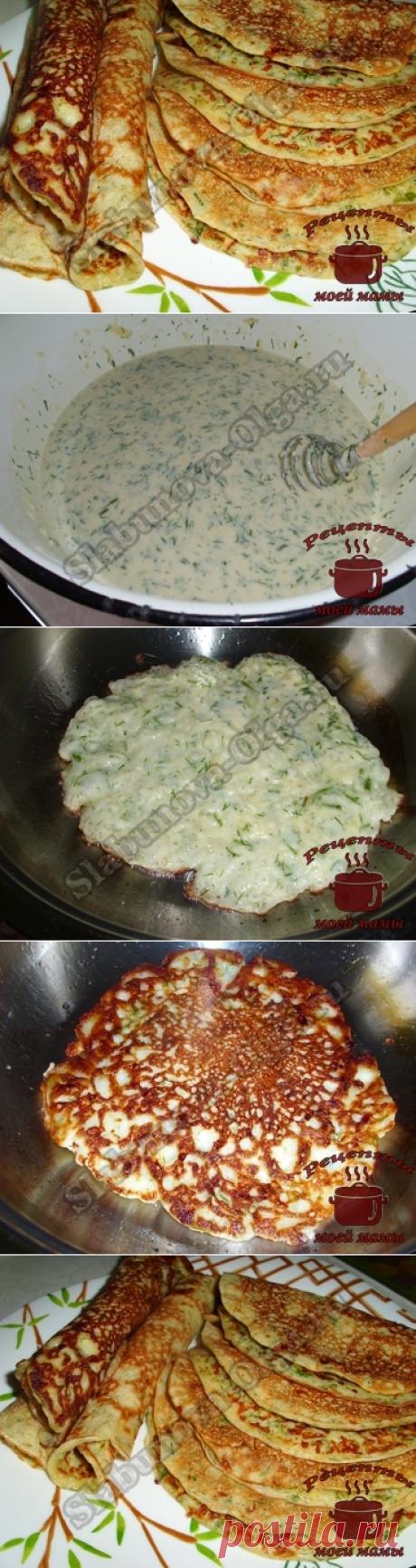 Блинчики с сыром. Рецепт. Фото