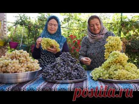 Смешанный виноградный компот и варенье из белого винограда на ЗИМУ