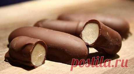 Десерт «Шоколадные пальчики». Готовится довольно просто и быстро.
