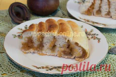✔️Постный пирог с вареньем на дрожжевом тесте рецепт с фото пошагово в духовке
