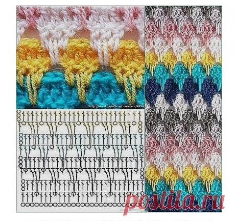 Схемки для вязания крючком | Вязание крючком для начинающих
