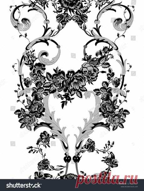 Стоковая векторная графика «Floral Lace Seamless Pattern» (без лицензионных платежей), 1218222091: Shutterstock