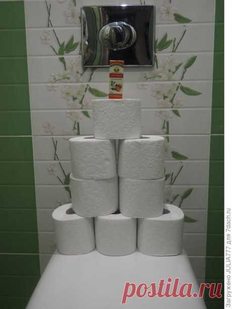 Как освежить воздух в туалете. Лайфхак