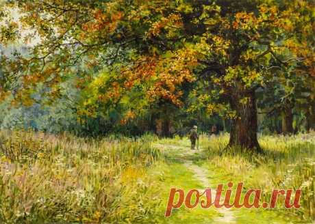 Autumn landscapes in Maria Vishnyak's painting