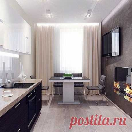 Дизайн камина на кухне! Уютно и тепло!