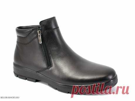 Мужские ботинки Марко 42039 Широкие зимние ботинки из натуральной кожи с двумя молниями по бокам
