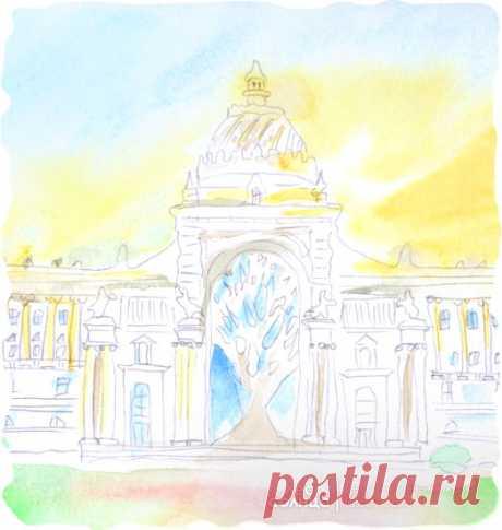 Казань | Акварель | Персональная именная сказка | Лес Солнца | Lessolnca.ru