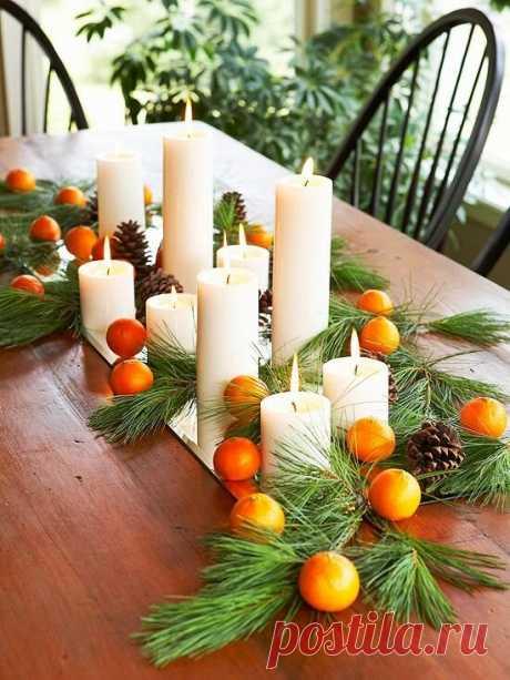 Новогодние композиции на праздничный стол   Людмила Ш   Яндекс Дзен