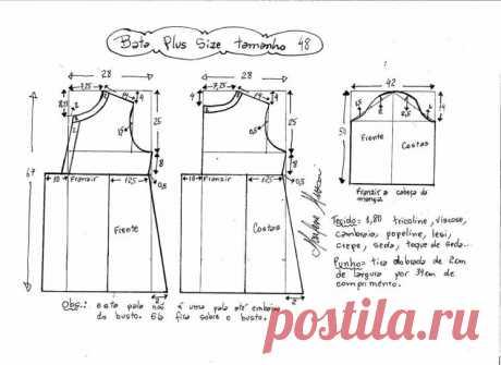 Выкройка блузки для полных женщин (Шитье и крой) – Журнал Вдохновение Рукодельницы