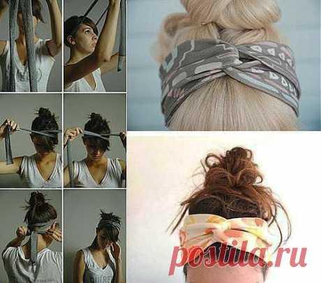 как подвязать волосы.