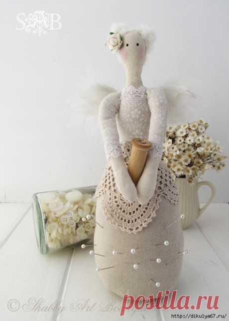 Ангелочки из ткани, ниток, лент. Идеи